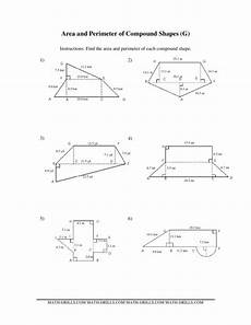 shapes areas worksheets 1036 area and perimeter of compound shapes worksheet for 7th 9th grade lesson planet