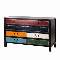 kare design kommode kare design kommode sideboard pappelholz schwarz bunt