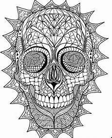 Ausmalbilder Erwachsene Totenkopf Items Similar To Coloring Page Zentangle Sugar Skull