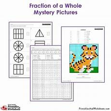 3rd grade fractions of a whole mystery pictures coloring worksheets printables worksheets