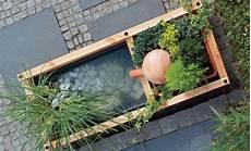 Balkon Brunnen Selber Bauen - terrassenbrunnen wasser im garten teich selbst de