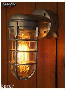 vintage industrial explosion proof wall l sconce steunk light stock grey ebay