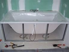 tablier de baignoire bois