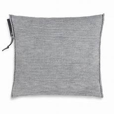 schlafzimmer joly joly kissen 50x50 grau modernes strickkissen knit factory