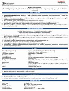 4 years experience resume format resume templates
