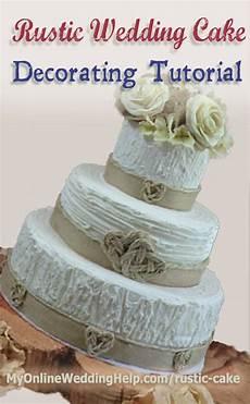 Rustic Wedding Cake Tutorial No Decorating