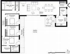 maison en u avec patio plans maisons plan maison plan