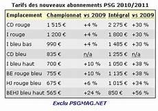 Exclu Tarifs Des R 233 Abonnements Psg 2010 2011 Psg Mag
