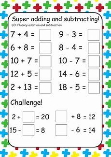 free addition and subtraction worksheets year 1 9861 differentiated addition and subtraction year 1 teaching resources