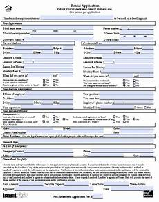 printable sle rental application template form real estate forms word pinterest real