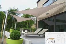 Parasol Voile Triangulaire Agencement De Jardin Aux
