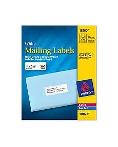 avery labels 8160 self adhesive address labels 30 labels per sheet 187261000557 ebay