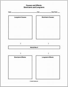 Ww2 Cause And Effect Chart World War Ii Causes And Effects Worksheet Student Handouts