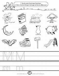 images that start with letter m letter buddies initial sounds m kindergarten worksheets