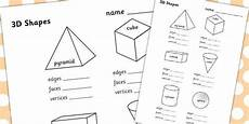 shapes worksheets ks2 1153 3d shape properties worksheets 3d shapes shape properties math resources