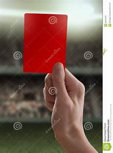 Strafe Rote El - rode kaart met scheidsrechter die een sanctie