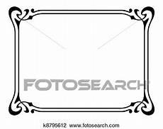 clipart cornici nouveau ornamental decorative frame clipart k8795612