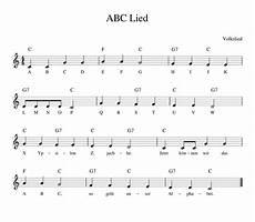 das abc lied kinderlieder noten text kinderlieder