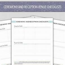 ceremony and reception venue checklist digital printable