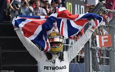 Lewis Hamilton Wins Fourth F1 World Title Daily Mail
