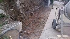 r 233 alisation d un mur de restanque en b 233 ton banch 233 grasse