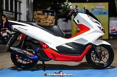 Modifikasi Honda Pcx 2019 by Dimodif Simpel Honda Pcx 150 Til Lebih Fresh Dan Anak