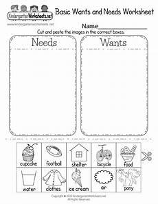 worksheets basic 18788 identifying basic wants and needs worksheet free kindergarten learning worksheet for