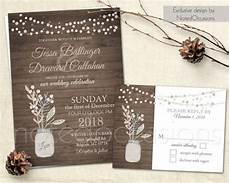 wedding invitation set mason jar wedding blush pink gray rustic chic wedding country neutral