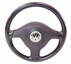3 spoke black leather sport steering wheel 99 5 02 vw