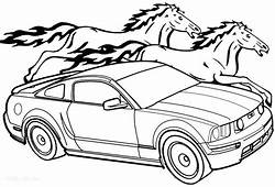 Ford Mustang Gt Drawing At GetDrawingscom  Free For