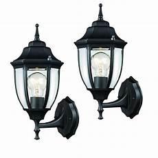 hton bay black outdoor wall lantern 2 hd 4470t bk the home depot