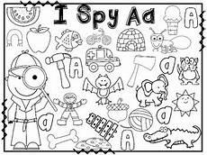 alphabet i spy alphabet sheets for letter sound recognition by deanna jump