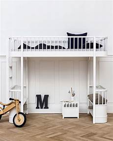 struttura letto a soppalco oliver furniture letto a soppalco linea wood bianco