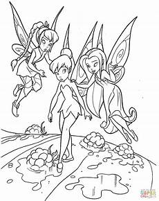 teaching tinkerbell coloring page free printable