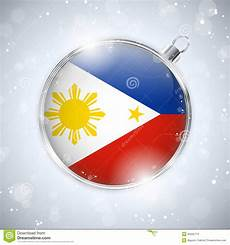 merry christmas silver ball with flag philippines stock images image 35205774