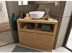 Meuble Sous Vasque 224 Poser D Angle En Teck 85 Cm Corner
