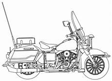 harley davidson motorcycle side coloring page
