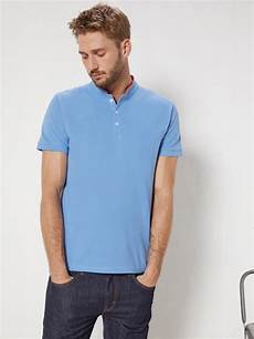 polo col mao homme polo col mao homme manches courtes homme vetement et