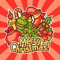 merry christmas invitation card with holiday symbols stock vector illustration of celebration