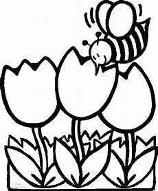 flower coloring pages 187 animal 187 print out pictures coloring pages bee with tulips