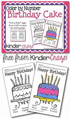 birthday color by number worksheet 16090 68 best images about kindergarten color by numbers on math coloring