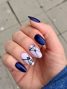 cute nail shapes short stilettonaildesigns dark blue