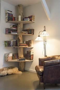 deco bois brut d 233 co salon 233 tag 232 res d angle en bois brut joli etagere