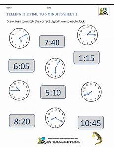 printable telling time worksheets 2nd grade 3624 telling time clock worksheets to 5 minutes