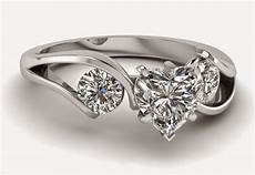 3 stone heart shaped diamond engagement rings sets for