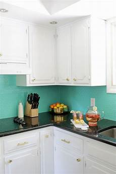 How To Tile Kitchen Backsplash How To Paint A Tile Backsplash A Beautiful Mess