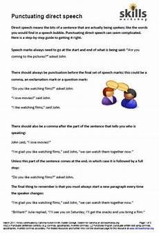 punctuation worksheets l2 20825 punctuating direct speech skills workshop