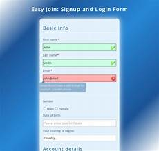 easyjoin responsive signup and login form jquery codester