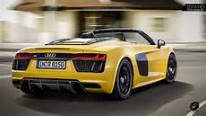 yellow 2017 audi r8 spyder v10 exhaust sound
