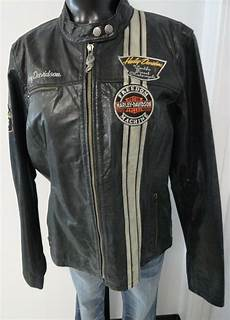 harley davidson s vertical stripe leather jacket ebay
